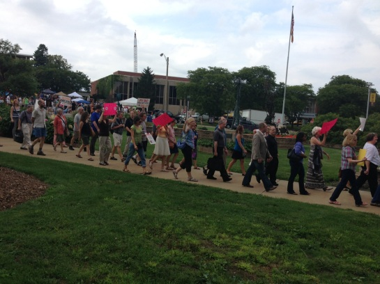 WMU faculty rally on September 5, 2014. (Photo by Patricia Villalobos Echeverría.)